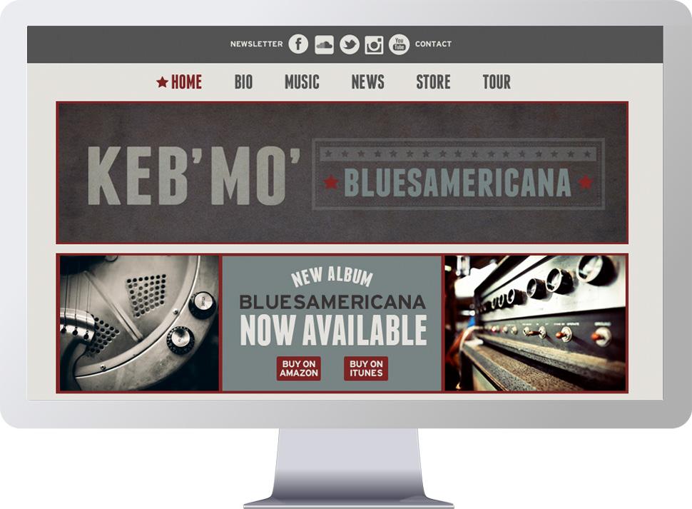 Website design for Keb' Mo'
