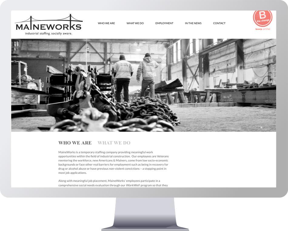 Website Development for MaineWorks